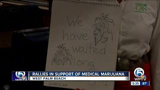 Rallies in support of medical marijuana - Video