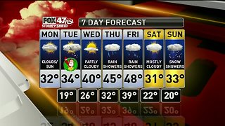 Dry on Christmas Eve with some light snow possible on Christmas Day