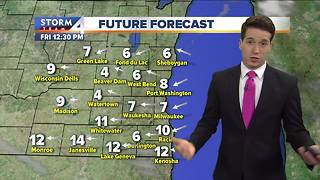 Windy day today, sunny weekend ahead - Video
