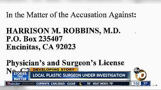 Plastic Surgeon investigated - Video