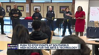 Southfield's new police chief meets with high school students about serious fights