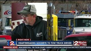 Tow truck drivers honor fellow driver killed - Video