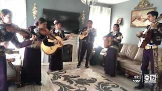 Mariachi making a switch uplifting people at COVID-19 funerals