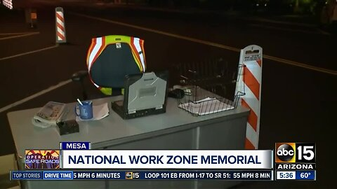 National Work Zone Memorial display shows importance of safety on the roads