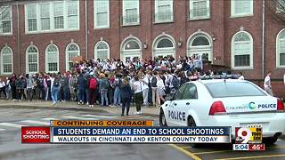 Local students walk out to demand an end to school shootings