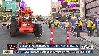County commissioners vote to add more bollards - Video