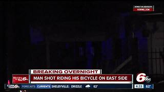Man shot while riding bike on Indy's east side - Video