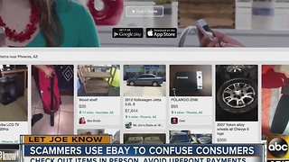 Scammers use eBay to confuse consumers - Video