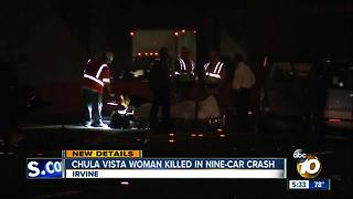 Chula Vista woman killed in nine-car crash