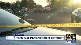 Video shows teen girl involved in West Phoenix shootout