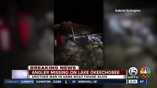 Video appears to show boat recovered connected to missing fisherman