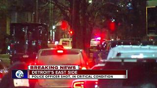 Detroit police officer in critical condition after shooting - Video