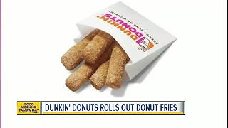 Dunkin' Donuts to sell Donut Fries across US - Video