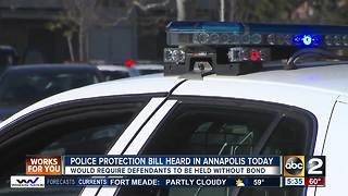 Police protection bill heard in Annapolis - Video