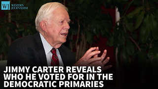 Jimmy Carter Reveals Who He Voted For In The Democratic Primaries - Video