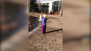 The Cutest Crossing Guard For Ducks - Video