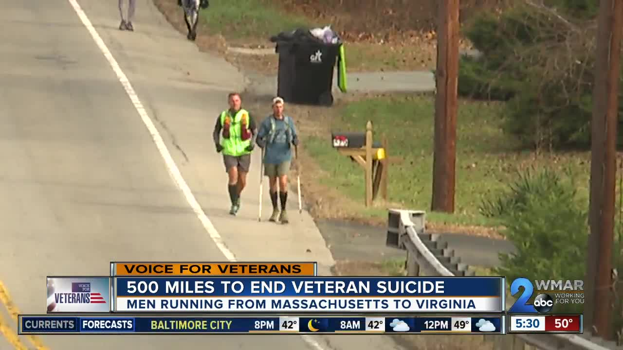 Men running 500 miles in 12 days to end veteran suicide