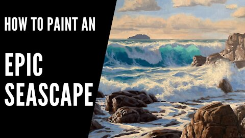 How to Paint an EPIC SEASCAPE - Paint Epic Waves and Translucent Water - Painting Tutorial
