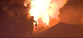 Vacant home catches fire again