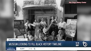 San Diego museum looking to fill Black history timeline