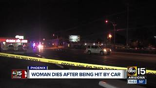 Woman dies after being hit by car in Phoenix - Video