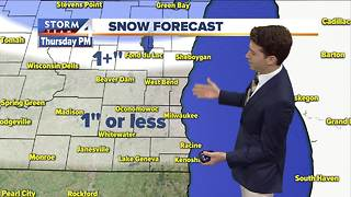 Light snow later Thursday - Video