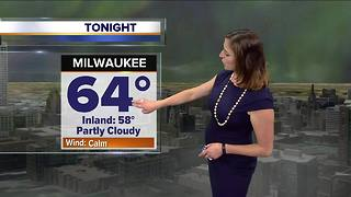 Cooler and cloudy tonight