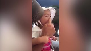 A Precious Little Girl Honks With Her Nose - Video