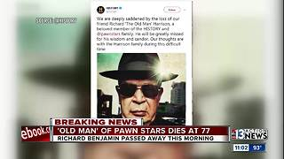 Richard 'The Old Man' Harrison of 'Pawn Stars' fame has died - Video
