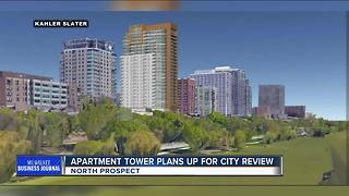 Revised Goll House apartment tower plans up for city review - Video