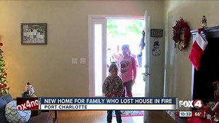Port Charlotte family gets new home after fire