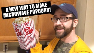 Amazing new way to make microwave popcorn - Video