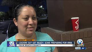 Palm Beach County residents prepare for Hurricane Irma