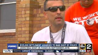 Man shot by Baltimore City police officer gets $135,000 settlement - Video
