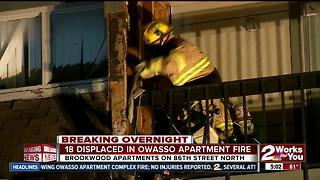 Owasso apartment fire forces residents out of homes - Video