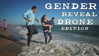 Californian Family Announce Baby Gender Using a Drone - Video