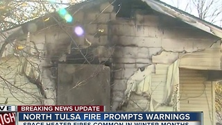 Man in critical condition after house fire in North Tulsa