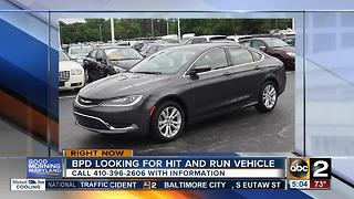 BPD searching for car involved in hit-and-run - Video