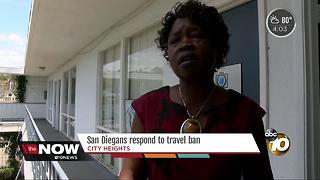 San Diegans respond to travel ban - Video
