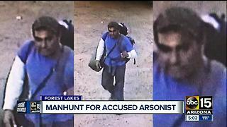 Manhunt for accused arsonist who opened fire on a forest service employee - Video