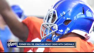 Former BSU DB Jonathan Moxey signs with Cardinals - Video