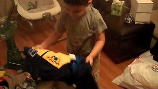 Little Boy Receives A Cool 'Giftception' Christmas Surprise You Won't Want To Miss - Video