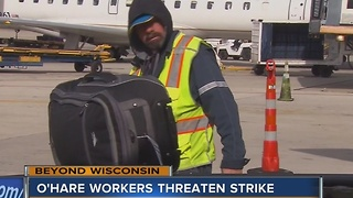 O'Hare Airport workers prepare to strike - Video