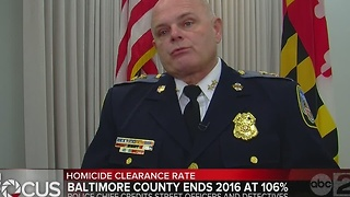 Baltimore County Police tout 106% homicide clearance rate for 2016