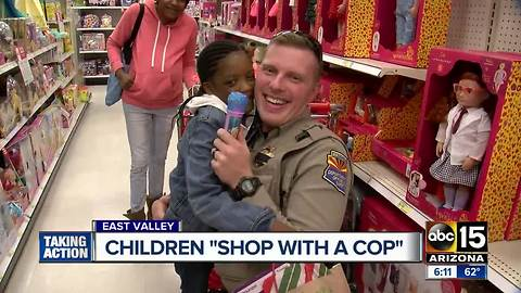 "Children ""shop with a cop"" in the East Valley"