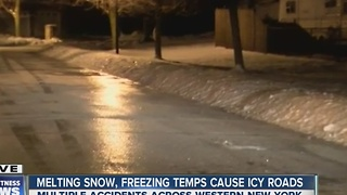 Neighborhood streets slick with coating of ice - Video