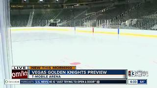 Vegas Golden Knights hockey rink preview at T-Mobile Arena