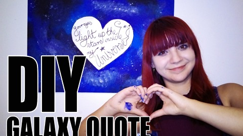 DIY galaxy quote