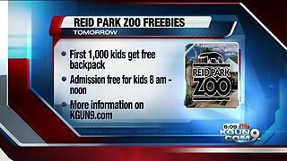 Free backpacks filled with supplies for first 1,000 kids at Reid Park Zoo Saturday - Video