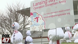 Lansing Jaycee's raise money with Operation Snowman Army